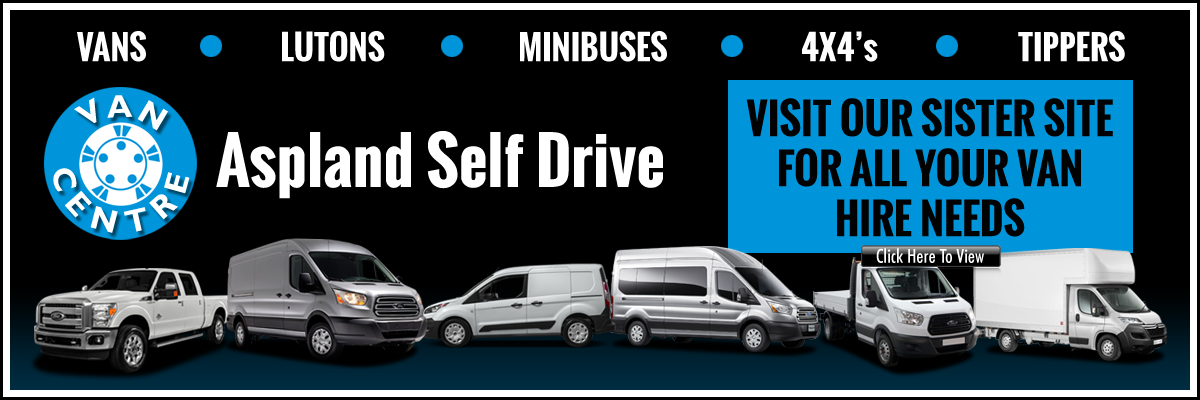 Aspland Self Drive, Norwich - vans, Lutons, minibuses, 4x4s, tippers - visit our sister site for all your van hire needs - click here to view