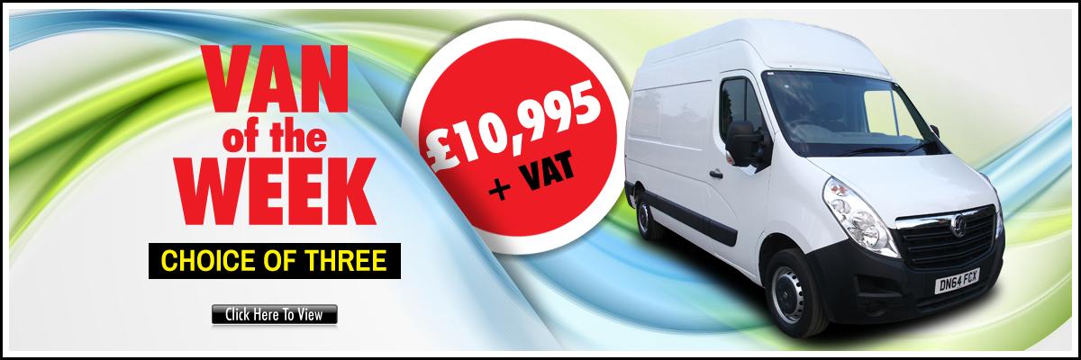 Aspland Van Centre. Norwich VAN OF THE WEEK - choice of three - click to view - £10,995 + VAT