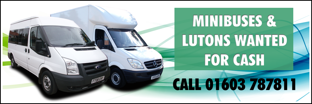 Minibuses & lutons wanted for cash at Aspland Van Centre, Norwich - call 01603 787811