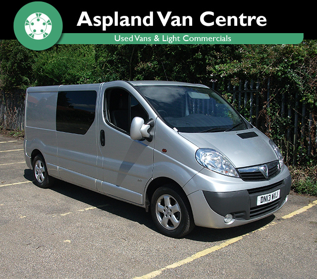 Vauxhall Vivaro 2.0CDTi Sportive 2900 LWB - Aspland Van Centre, Norwich - USED - 55,000 MILEAGE - MANUAL TRANSMISSION - £9,995 + VAT