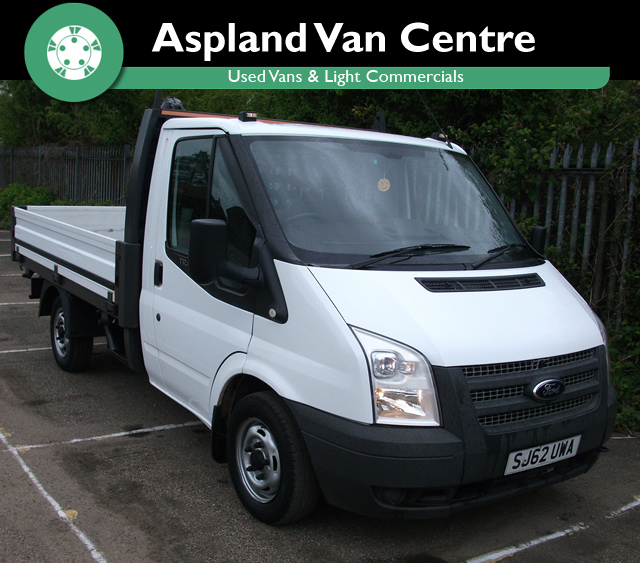 Ford Transit 2.2TDCi 300S Alloy Dropside Truck isometric view