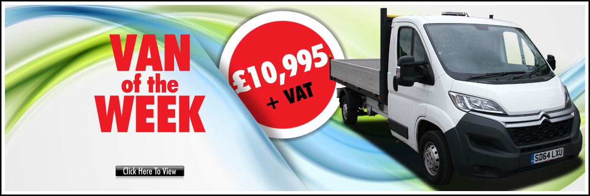 From the 24th April 2017 the Citroen Relay 2.2HDi Alloy Dropside truck is the Van of the Week
