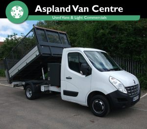 Renault Master Tipper Buck 23DCi MWB isometric view cage up