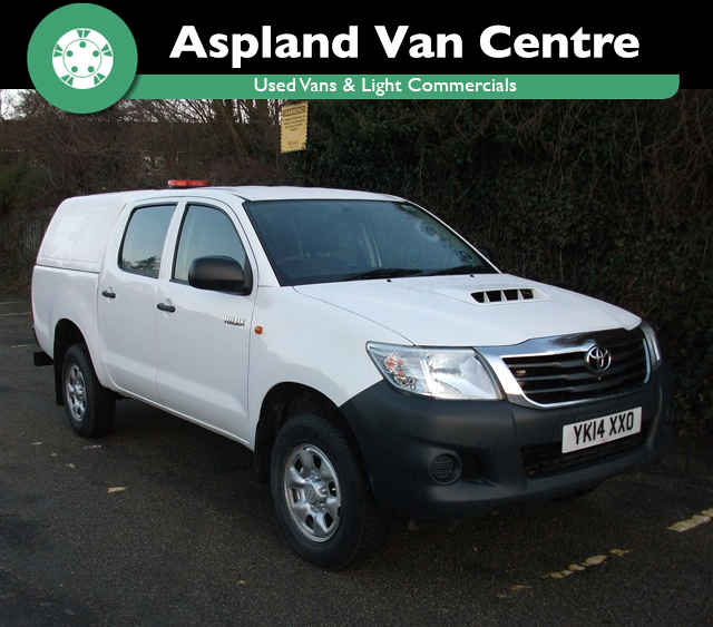 Toyota Hi-Lux 2.5D-4D 4WD Active D/Cab Utility Pick Up isometric view at Aspland Van Centre