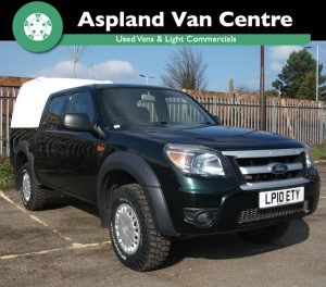 Ford Ranger 2.5TDCi 4x4 (a/c) XL D/Cab Pick Up with Truckman Back isometric view at Aspland Van Centre