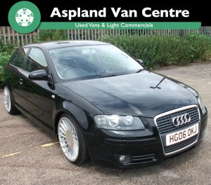 Audi A3 2.0TDI Sport 150BHP isometric right view at Aspland Van Centre