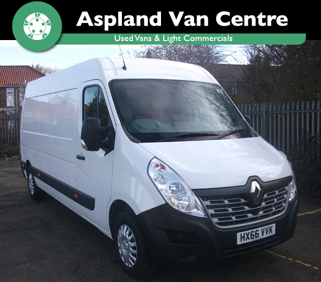 (66) Renault Master 2.3dCi LM35 125 Business+ isometric view at Aspland Van Centre