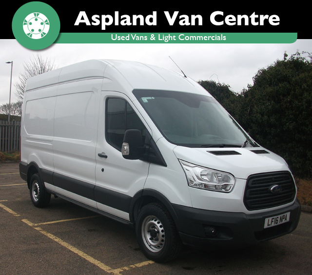(16) Ford Transit 2.2TDCi RWD 350 L3H3 125PS isometric view at Aspland Van Centre