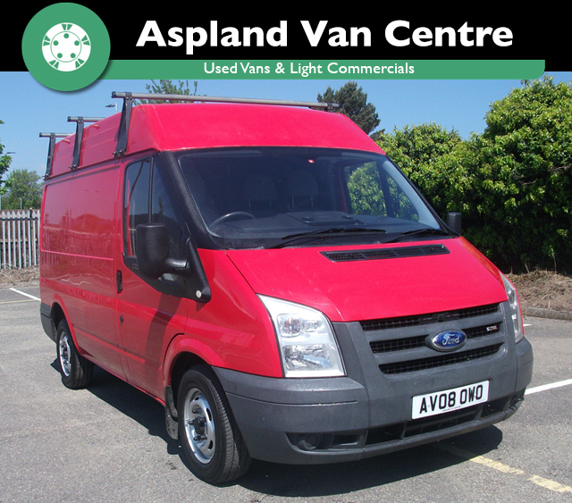 (08) Ford Transit 280 2.2 SWB isometric view at Aspland Van Centre