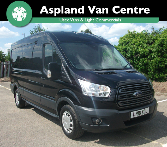 (16) Ford Transit 2.2TDCi 350 L3H2 Trend LWB isometric view at Aspland Van Centre