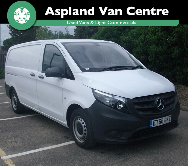 (66) Mercedes Vito 1.6CDI 111 - Extra Long 111CDI LWB isometric view at Aspland Van Centre