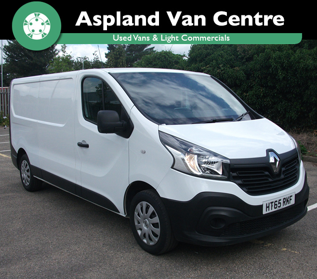 (65) Renault Trafic 1.6dCi Low Roof Van LL29 115 Business (New Shape) LWB isometric view at Aspland Van Centre