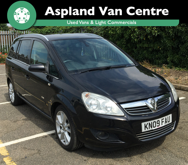 (09) Vauxhall/Opel Zafira 1.9CDTi 16v (150ps) Design isometric view at Aspland Van Centre