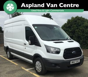 (67) Ford Transit 2.0TDCi (130PS) (EU6) RWD 350 L3H3 LWB isometric view at Aspland Van Centre