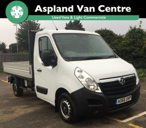Isometric view of the (66) Vauxhall Movano Drop Side Truck 2.3 CDTI H1 Dropside 130ps